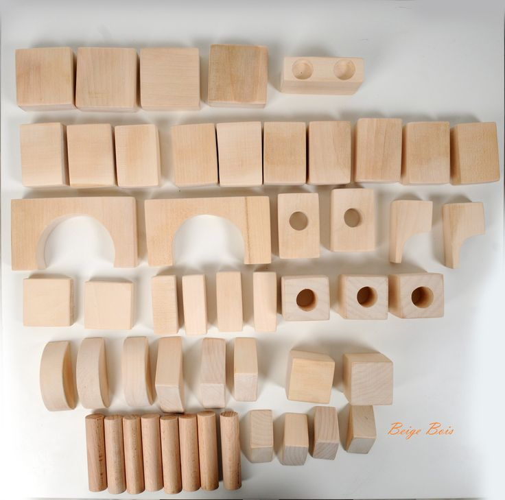 Each block has rounded and smooth safety edges. The basic block is 2.5''/6cm x 1.5''/4cm x 1''/2.5cm and the set comes  in different sizes and shapes. - 50pieces