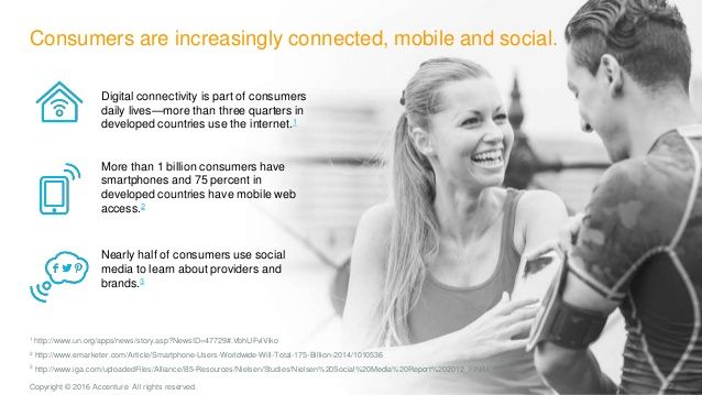 2Copyright © 2016 Accenture All rights reserved. Consumers are increasingly connected, mobile and social. Digital connecti...