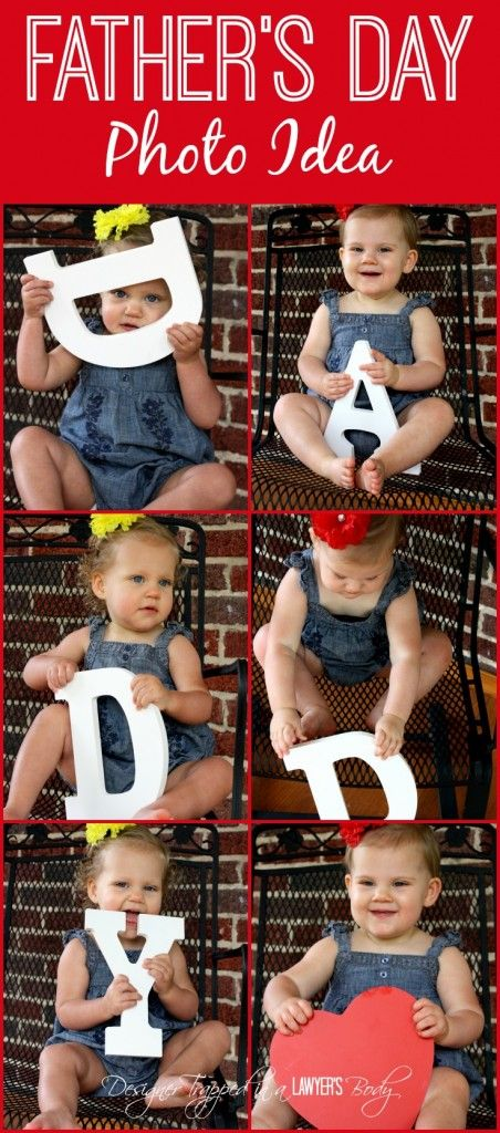 Best Father's Day Photo Ideas by Designer Trapped in a Lawyer's Body!  #fathersday @fathersdayphotos