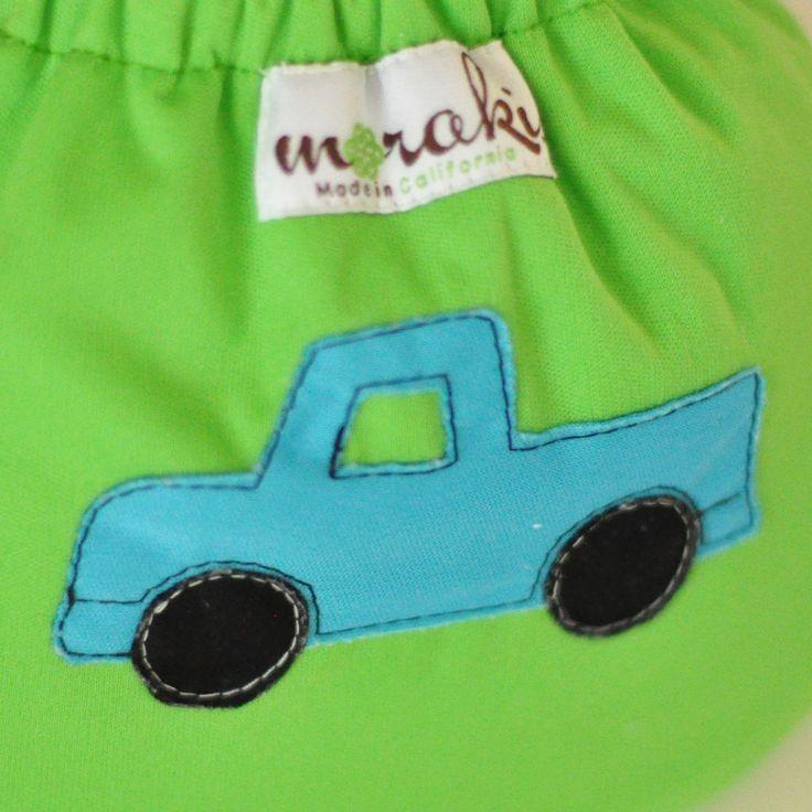 Moraki - One Size AIO Diaper ~ Truck, $33.00 (http://www.morakicloth.com/one-size-aio-diaper-truck/)