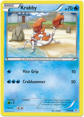 Krabby 21/83 Pokemon TCG: Generations Pokemon Card