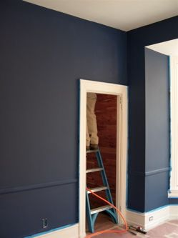 [Real Homes] Beautiful dark hue: Farrow & Ball's 'Drawing Room Blue' by Room Lust, via Flickr