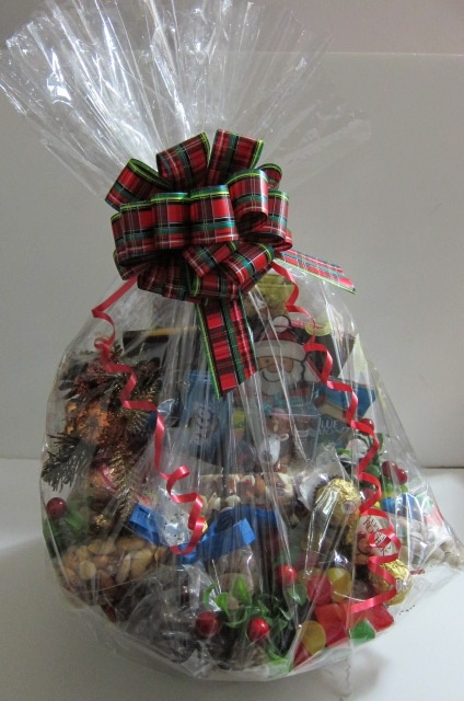 Chocolate and Nuts Basket all wrapped up!
