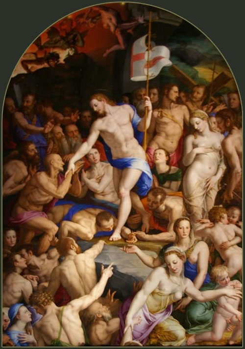 The Descent of Christ into  Limbo by Agnolo Bronzino is possibly one of the most amazing paintings ever devised by the human brain ....