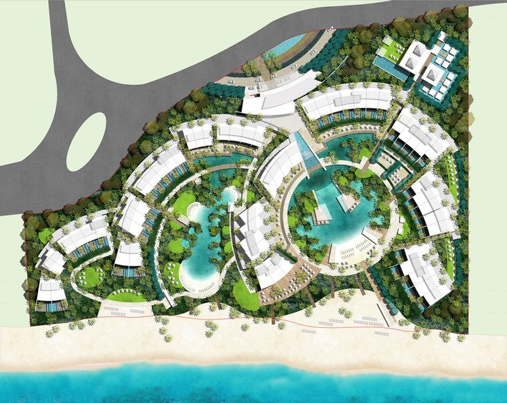 Image result for resort design planning architecture and for Beach landscape design