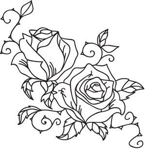 ... rose design rose flowers embroidery patterns brush embroidery forward