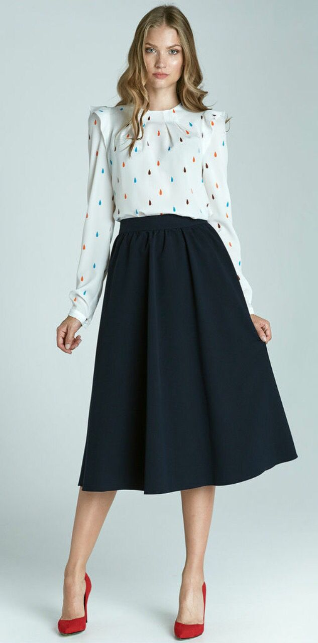 I absolutely hate the top. I like the cut of the skirt. I would like something like this in a brighter color. Of course, I would need breathable fabric. http://womenfashionparadise.com/