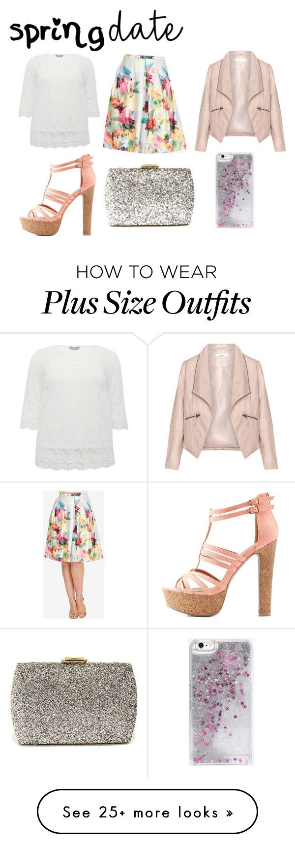 """""""Spring date"""" by tigerlily789 on Polyvore featuring Zizzi, M&Co, City Chic, Charlotte Russe, Lulu*s and Skinnydip"""