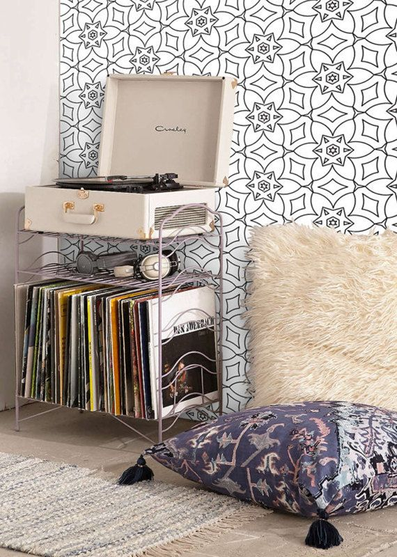 Self Adhesive Wallpaper Temporary Removable Geometric Pattern