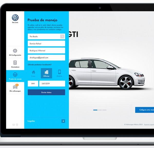 Volkswagen - Car configurator Website by Sindy Ethel