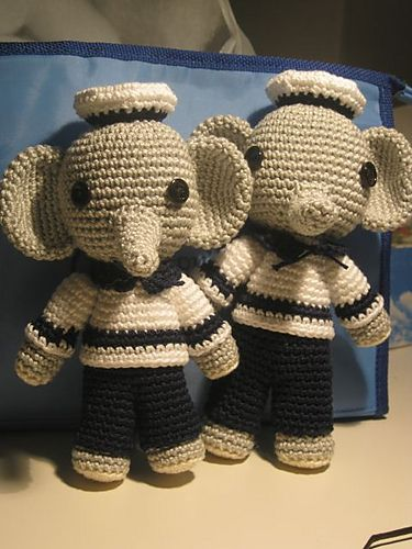 Amigurumi Sailor Elephant - FREE Crochet Pattern / Tutorial