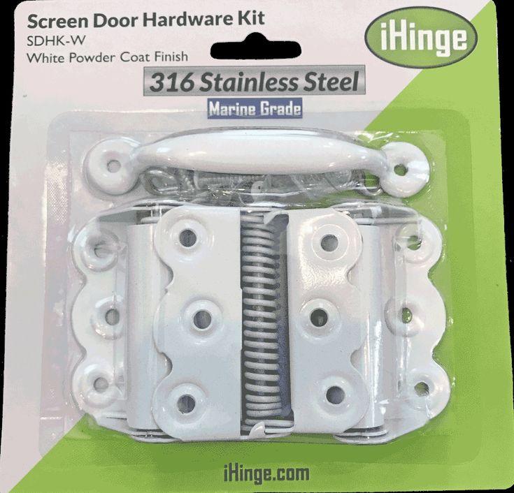 Black Screen Door Hardware Kit