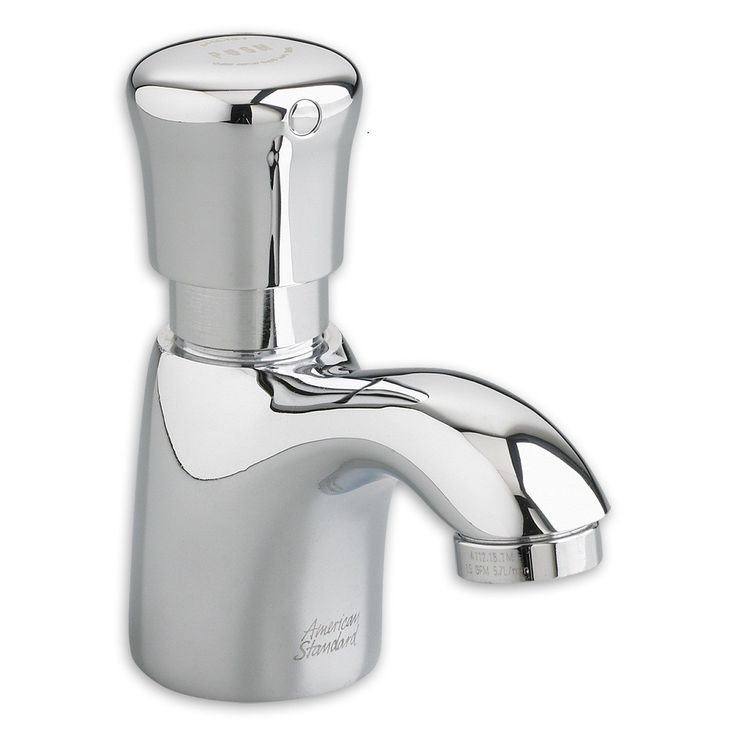 Pillar Tap Metering Faucet with Extended Spout
