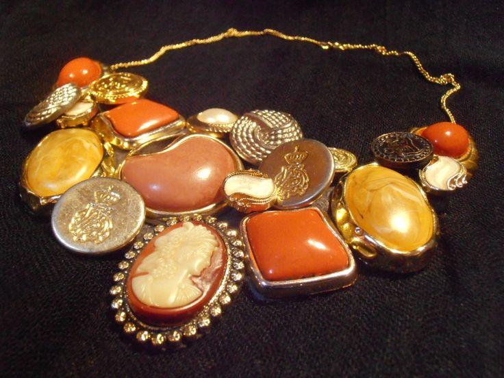 DIY Button statement necklace
