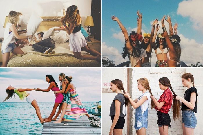 <p>Há algum tempo fizemos um post com inspiração de fotos para tirar em trio. Agora, voltamos com inspirações de clicks exclusivamente realizados em quarteto. É a hora certa de se juntar a suas melhores amigas, separar suas roupas mais legais, pegar todos os adereços divertidos que puder e fotografar muuuuuuito! Nós não temos dúvidas de […]</p>