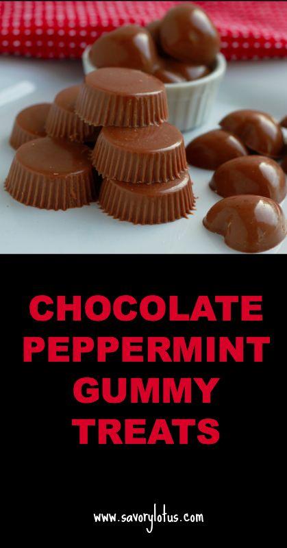 Chocolate Peppermint Gummy Treats   savorylotus.com
