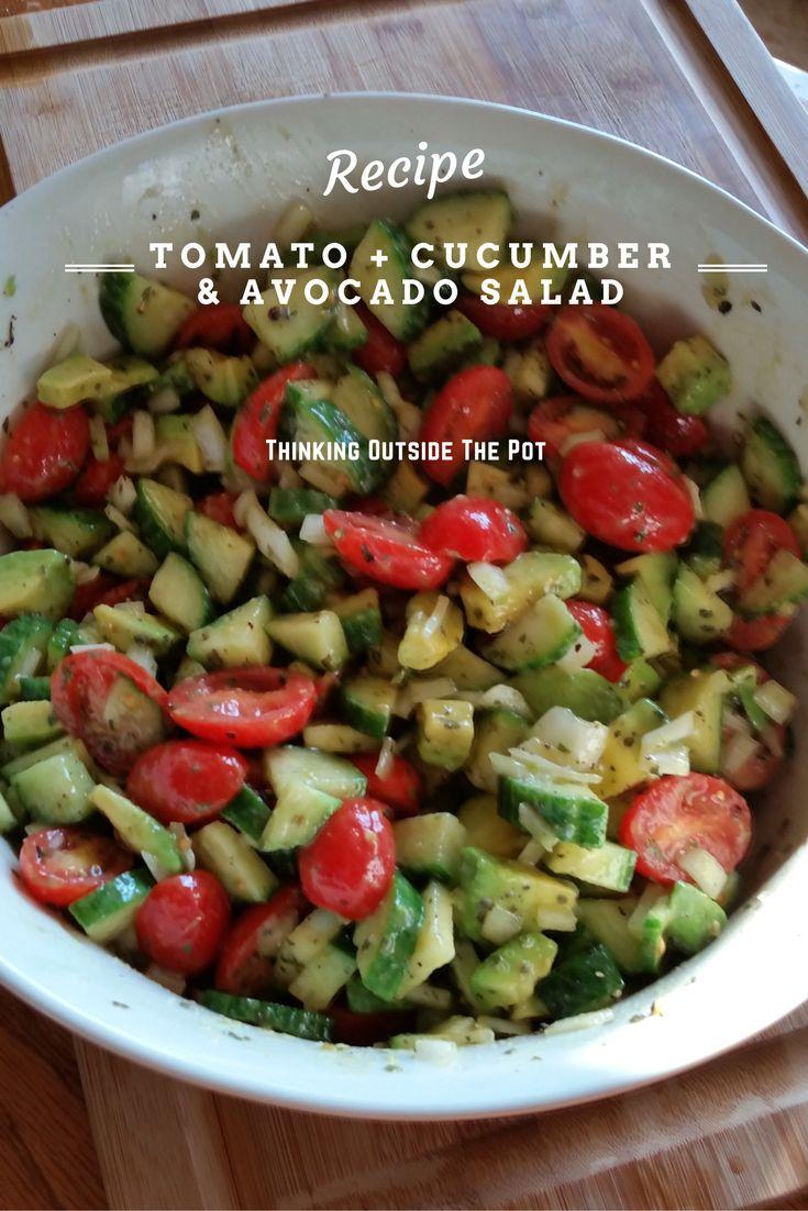 Fresh Salad Recipe. Tomato +Cucumber & Avocado Salad