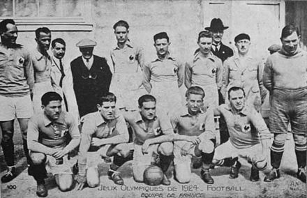 France Olympic Games football team group in 1924.
