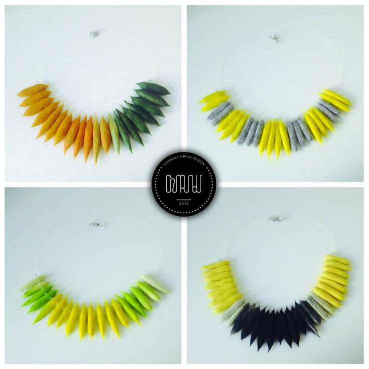 Felted necklace by Cziribu