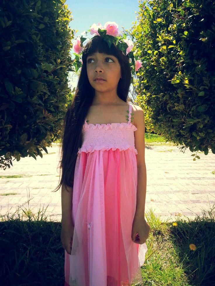 The Pink Rainbow Mesh Dress