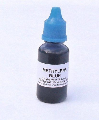 #manythings #Methylene Blue Microscope Slide Stain Solution 20 ml. Packaged in a Plastic Dropper Bottle. Caution: Stains are permanent on clothing and skin.