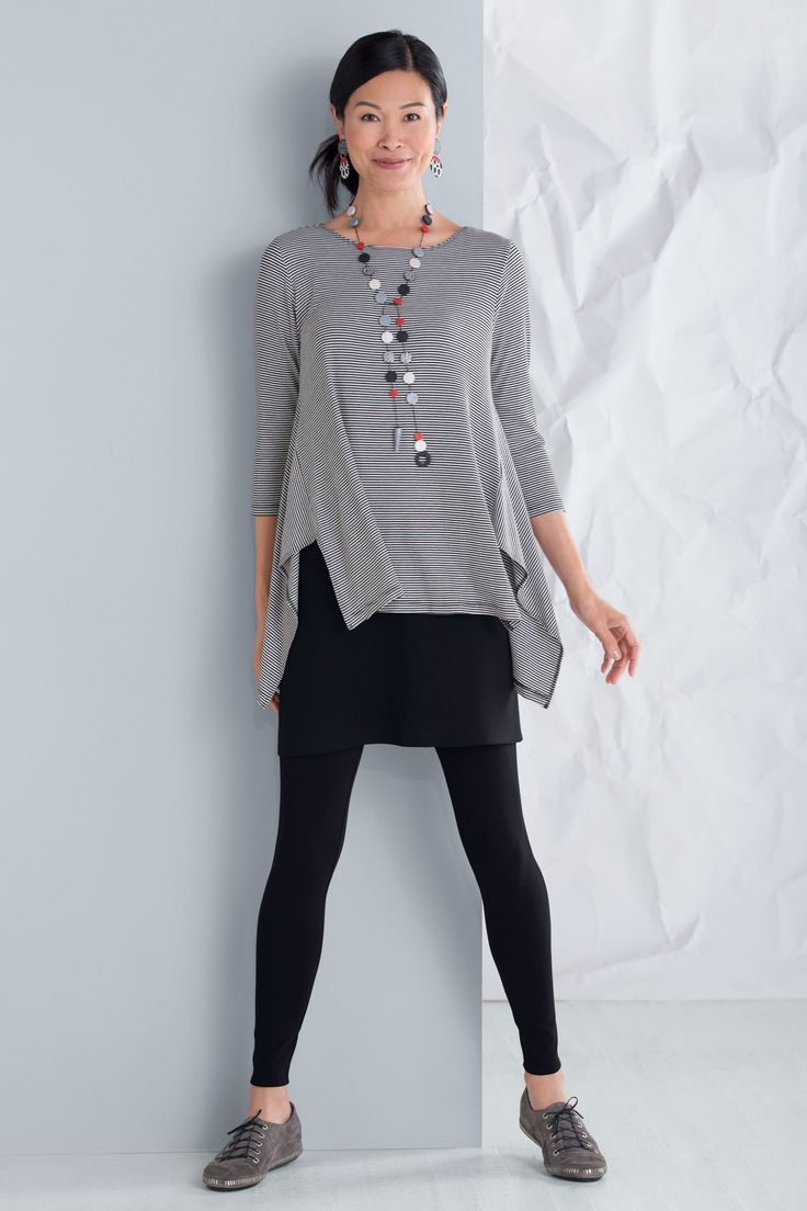 Ponte Skirted Leggings by F.H. Clothing Company . Create an effortless layered look with one easy piece! These leggings have an attached skirt, offering a perfect combination of comfort, coverage, and style.
