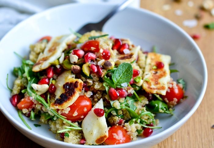 Quinoa Salad with Grilled Halloumi {healthinspirations.net}