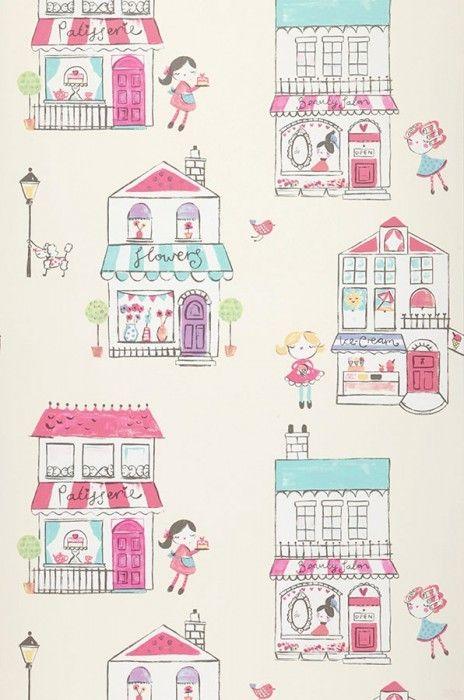 My little shop | Papier peint des années 70