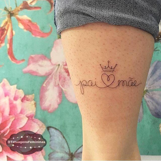 #TatuagensFemininas #amei  #paiemae                                                                                                                                                                                 Mais