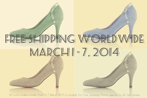 FREE SHIPPING WORLDWIDE.  March 1-7, 2014  http://jakii.com.au