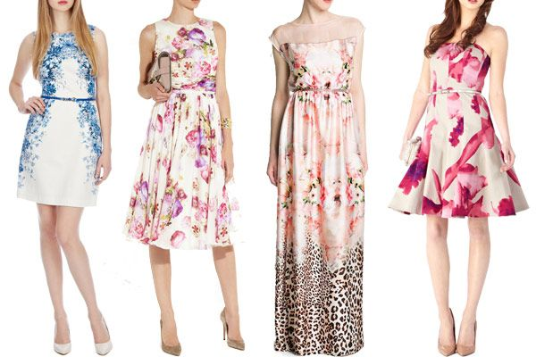 Floral-Wedding-Fashion-2 - Read more on One Fab Day: http://onefabday.com/floral-wedding-guest-dresses-summer-2013/
