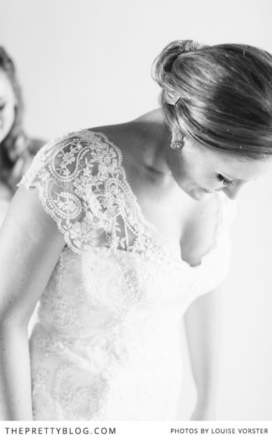 Elegant in lace - Completed with a soft detailed shoulder, this is an exquisite dress! | Photographer: Louise Vorster Photography
