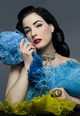 Silver Screen and Burlesque Inspired Nails by Dita Von Teese!