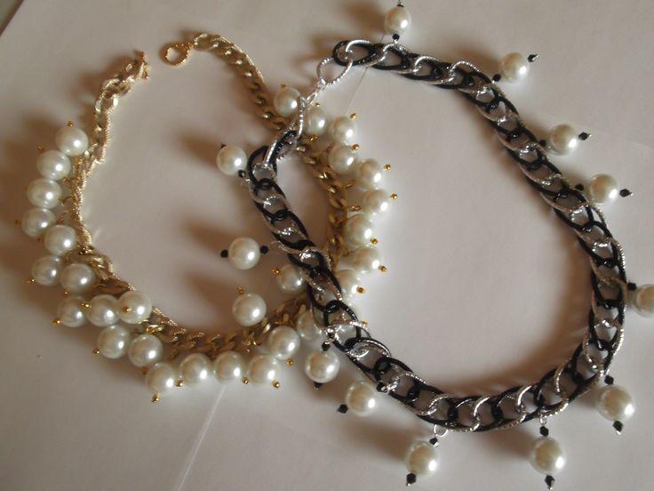 Collane di perle...un must che non deve mancare nel vostro outfit :) Prezzo €20,00
