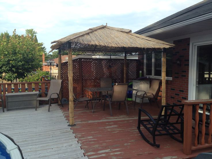 DIY Tiki Hut. When you can't replace the canopy on your ...