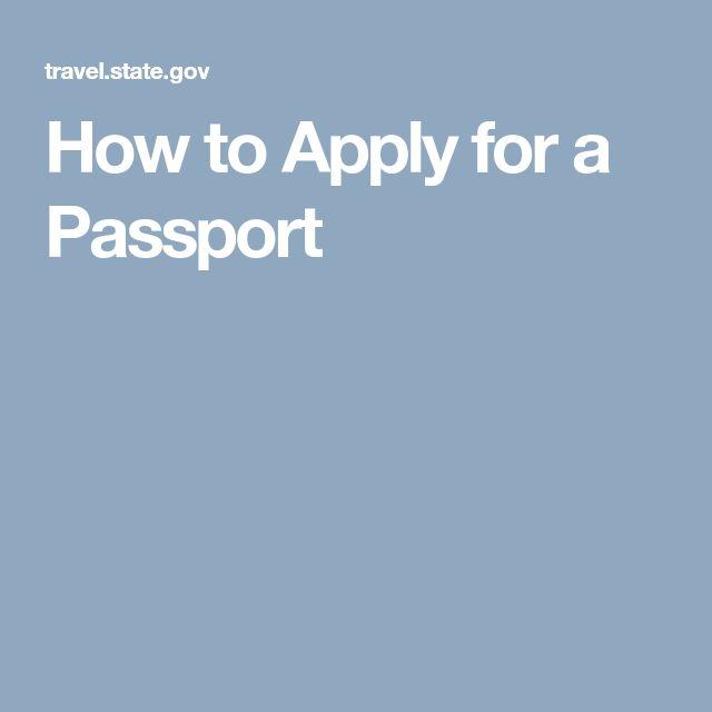 Best  Apply For Passport Ideas On   Apply Passport