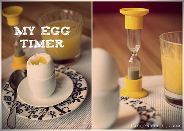 Breakfast. Egg timer http://paperwood.livejournal.com/25002.html