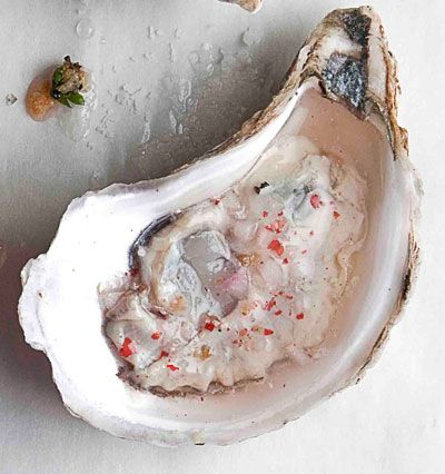A tart mignonette sauce made with a splash of Prosecco only makes oysters better. #SAVEUR100