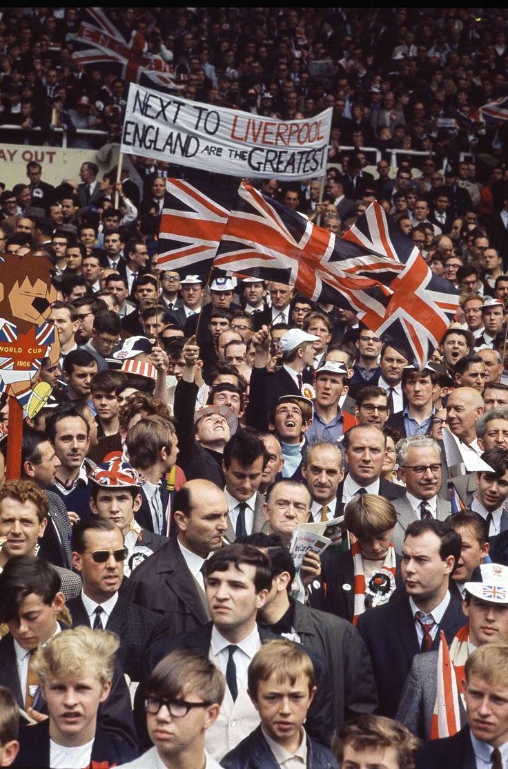 In the crowd at the World Cup Final, 1966
