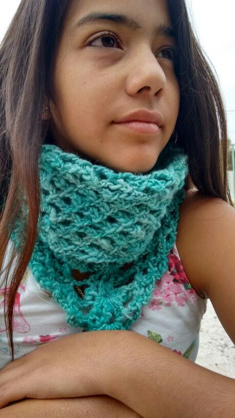 Cuello lana cruda calipso a crochet