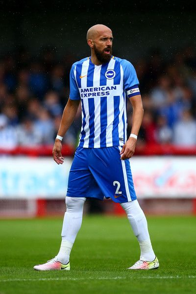 Bruno Salter of Brighton in action during the Pre Season Friendly match between Crawley Town and Brighton & Hove Albion at Broadfield Stadium on July 22, 2017 in Crawley, West Sussex.