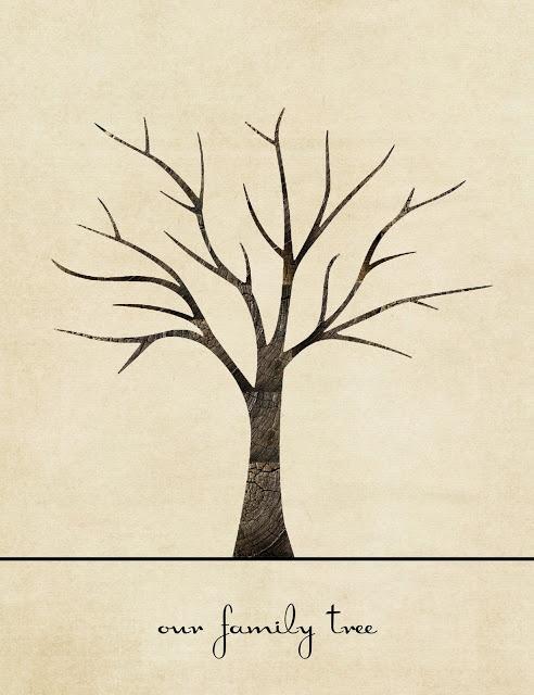Sugar and Dots: Family Tree Print (Printable Craft!)