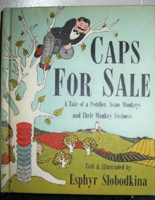 1947 Caps For Sale vintage child's book by JunqueandStuffe on Etsy, $7.99
