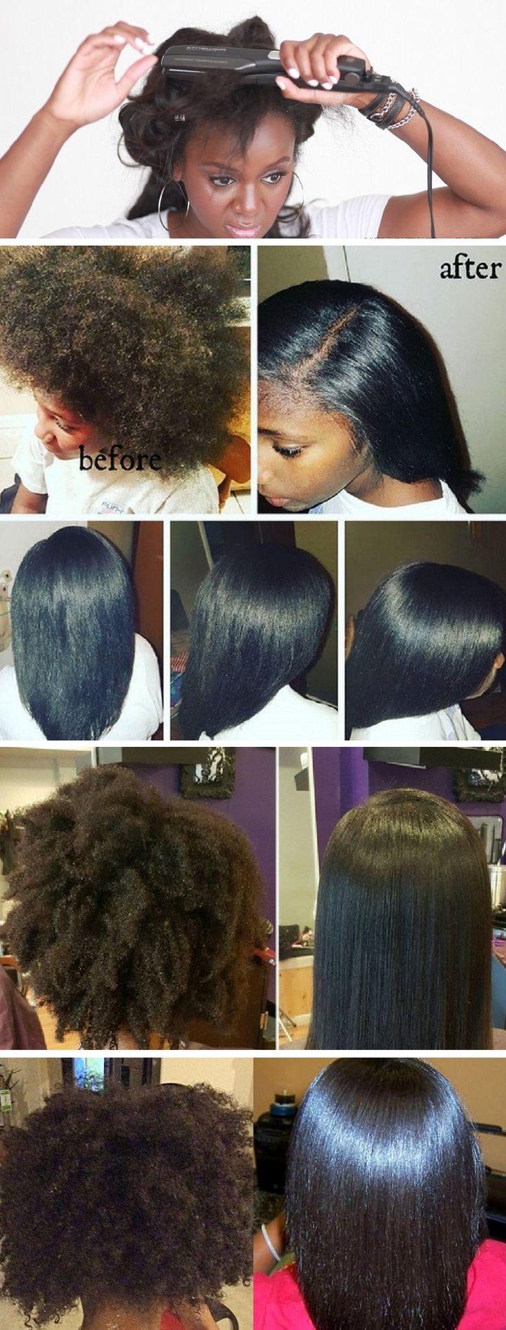 Flat Iron Hairstyles for Black Short Hair