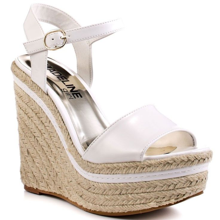 NEW NIB MADELINE Girl 9 Surf White Espadrille Wedge Platform Sandals Heels #Madeline #PlatformsWedges