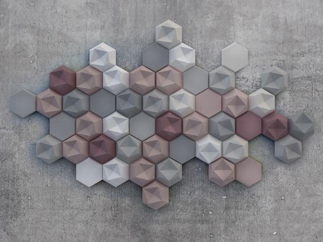 Geometric compositions of modular concrete tiles