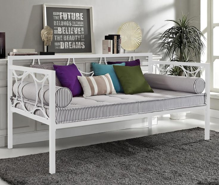 Talia Daybed Metal daybed, Furniture, Daybed with trundle