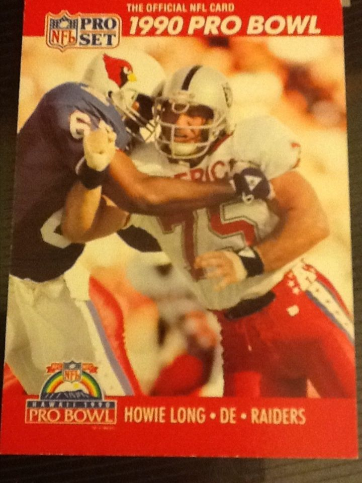 Howie Long -1990 Official Pro Bowl Card Los Angeles Raiders Card #351