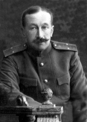 "Prince Vasily Alexandrovich Dolgorukov, ""Valja"". Marshal of the Imperial Court, he voluntarily accompanied the family into internal exile and followed them first to Tobolsk and then to Ekaterinburg. Accused of plotting to rescue the Imperial family, Dolgorukov and Count Tatishchev were taken by Cheka agents beyond the city's Ivanovskoe Cemetery on July 10, shot in the head and thrown into a pit. Dolgorukov was only buried when the town was captured by the White Army. _BM"