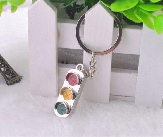 Creative милый трафик лёгкие дизайн сплав ключ цепь, Универсальный металлическая цепочка для ключей, Кольцо для ключей комплект